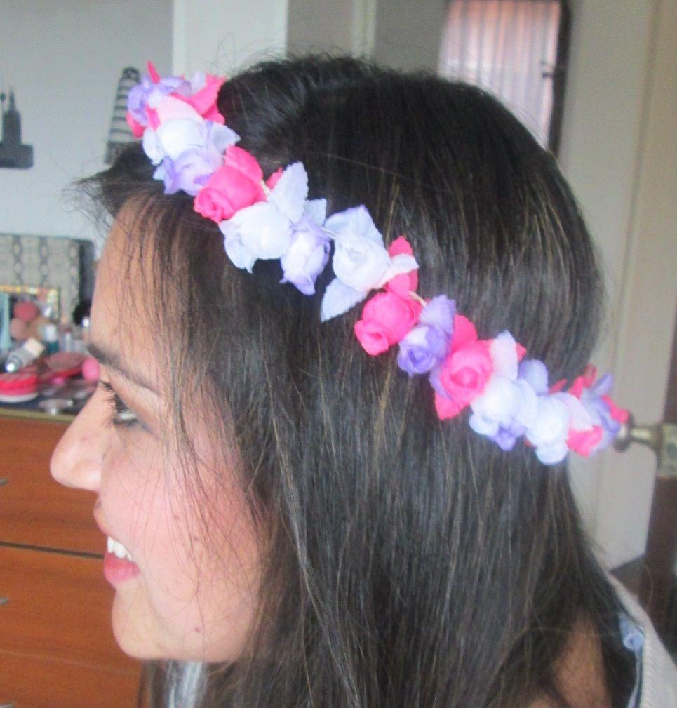 DIY: Corona de flores en http://viviangilro.blogspot.com/2014/07/diy-corona-de-flores.html