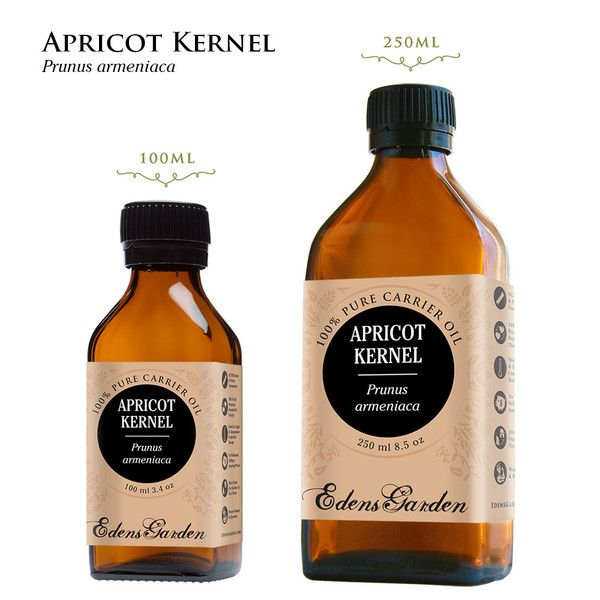 Apricot Kernel Carrier Oil-Apricot Kernel is a velvety carrier oil that moisturizes and nourishes the skin upon application. In addition to vitamins A, B1, B2, B6 and E, it has the higher level of vitamin B17 than any other plant in the world. Some studies show that B17 can destroy cancer cells. Apricot Kernel also has a high percentage of oleic acid content, which makes it incredibly absorbent and supple.
