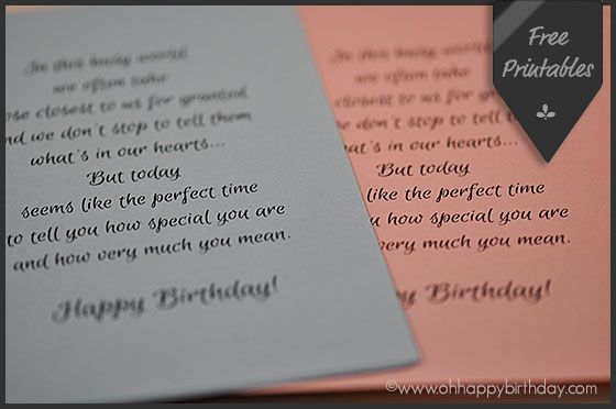 Birthday Card Inserts - free printables Happy Birthday Cards - freeprintable birthday cards