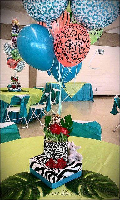 Sassy Safari Baby Shower Centerpiece 1 Dise O Animal