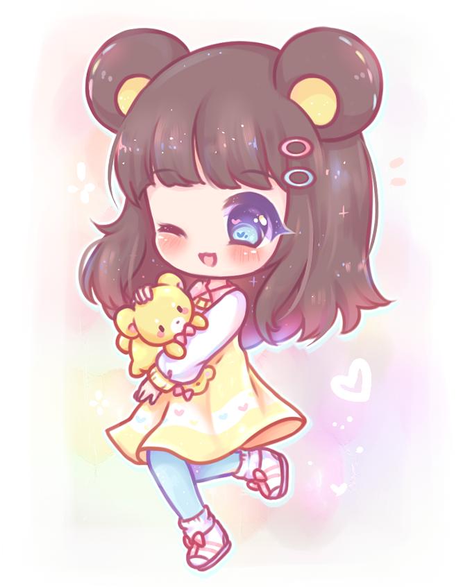 C A Little Wish By Lilpawie Chibi Anime Kawaii Chibi Girl Drawings Cute Anime Chibi