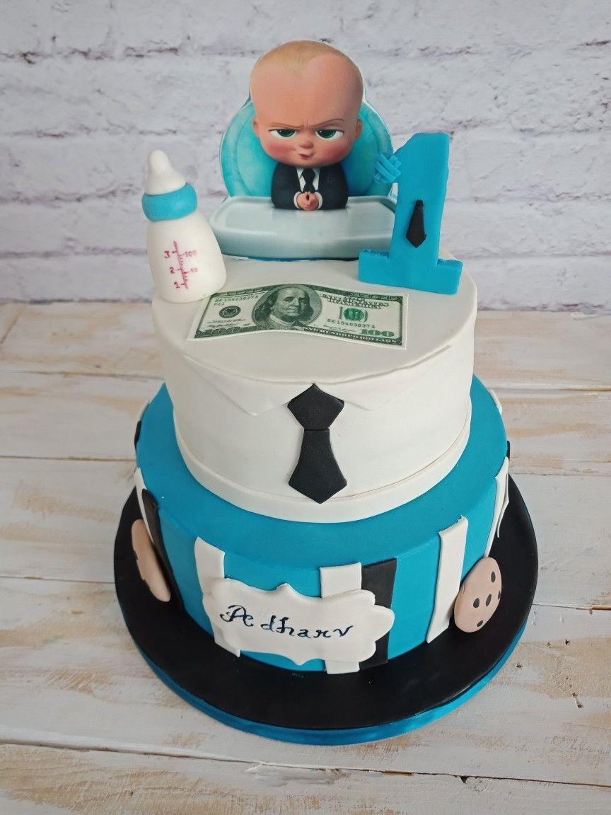 Boss Baby Theme Cake Themecake Redvelvet Bossbaby