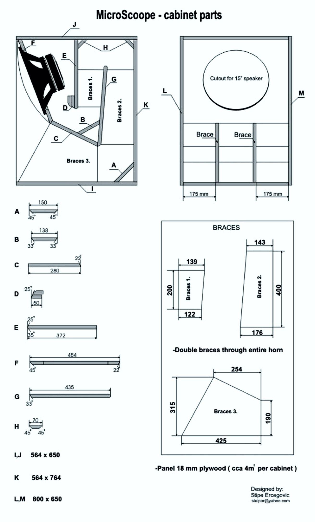 dj sound speaker plans speaker design loudspeaker speakers audio electronics horn woodworking [ 1311 x 2171 Pixel ]
