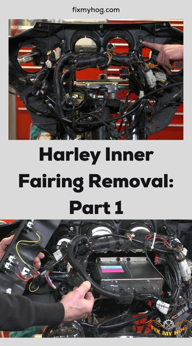 Harley Inner Fairing Removal Part 1 Harley How To Remove Inner