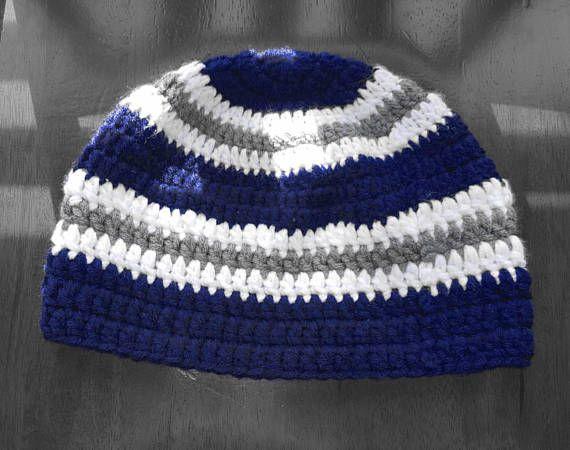Striped Men s Beanie. Crochet Striped Hat. Gift for Him. Men s Christmas  Gift. Striped Winter Hat. M b540d63bd4be