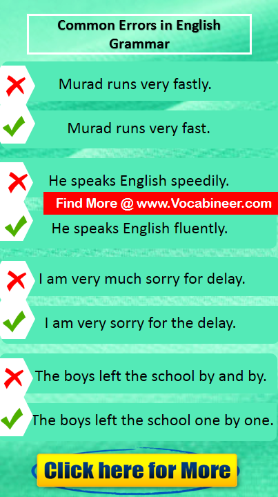 Common Errors In Grammar Common Mistakes In English Pdf English Vocabulary Words Common Grammar Mistakes English Speaking Skills