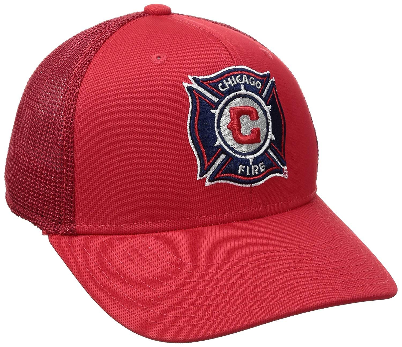 fb5314c3fc3a99 adidas MLS Chicago Fire Adult Men MLS SP17 Fan Wear Tactel Trucker Flex Cap,  $17.25