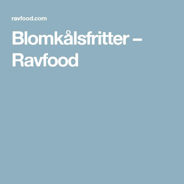 Blomkålsfritter – Ravfood