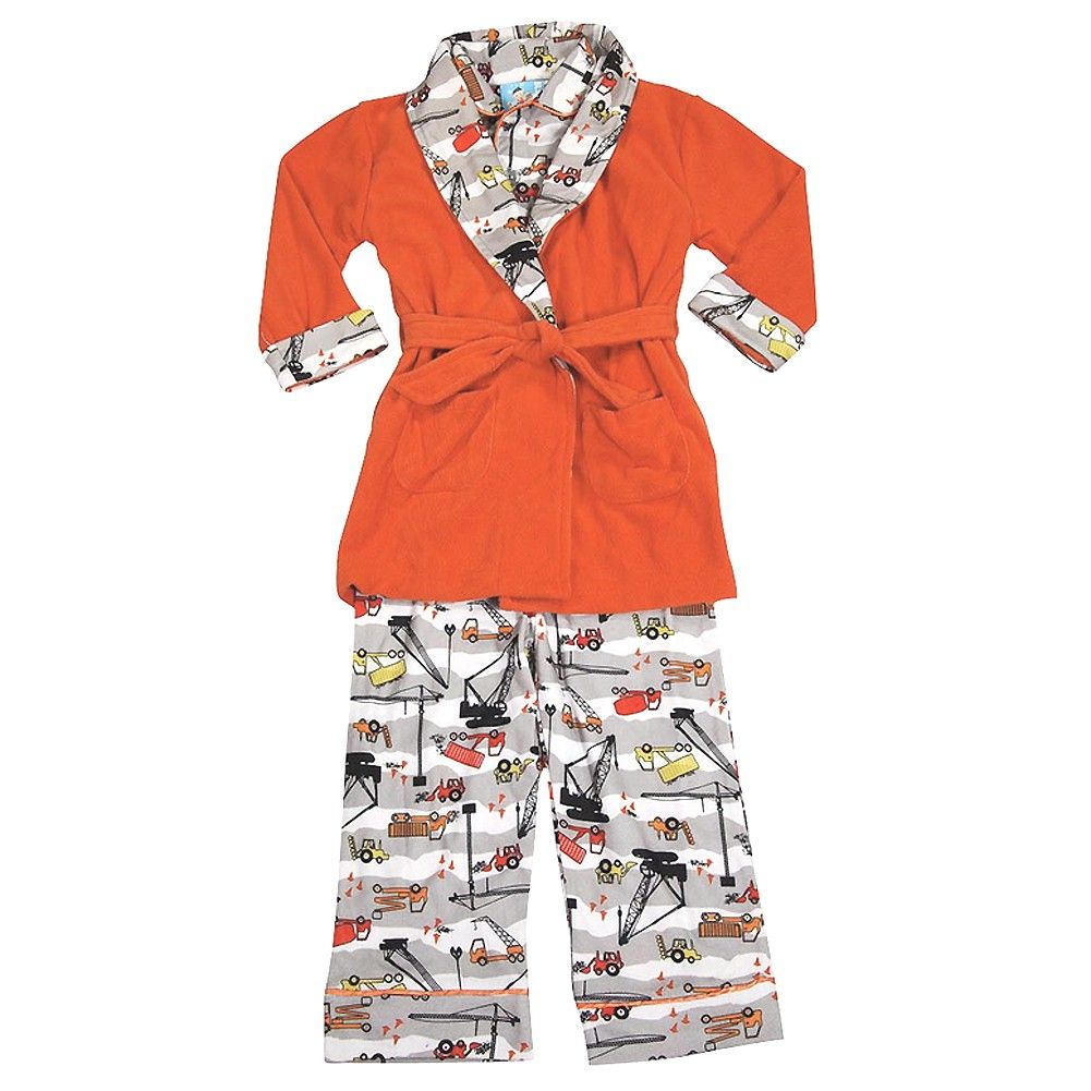 0bc550951 A comfy 3 piece bathrobe and pajama set for your little boy from ...