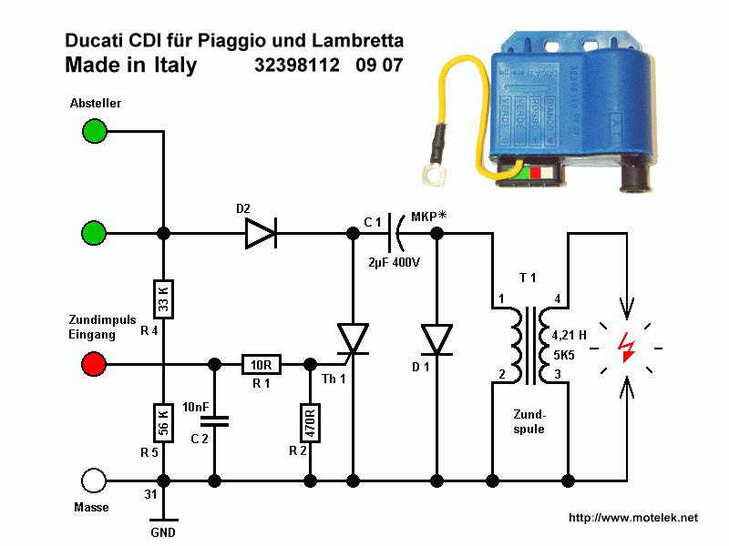 Vertiefte Einfuhrung In Die Cdi Thyristor Zundungstechnik Elektronische Schaltplane R5 Elektronik