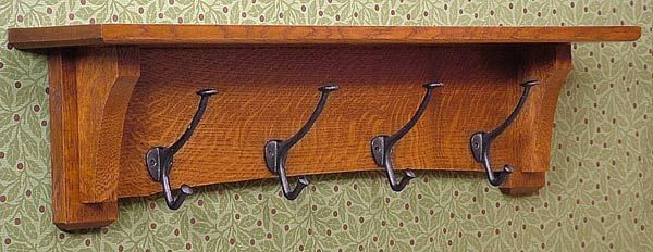 Mission Style Coat Rack For The Home Pinterest Coat Racks New Vintage Style Coat Hook Rack With Shelf