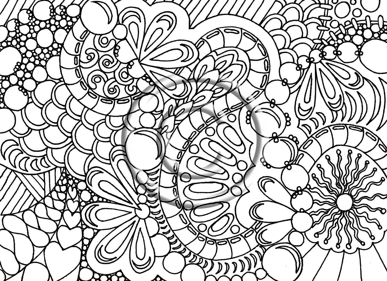 Gallery Abstract Coloring Pages Difficult Adult Coloring Pages