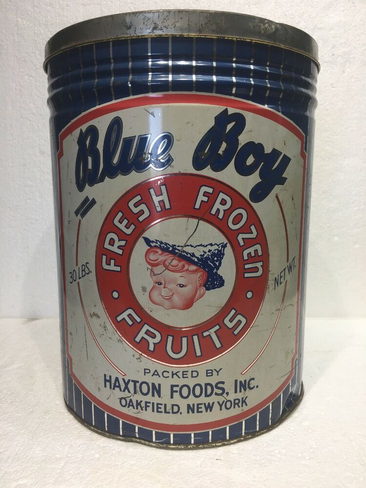 Details about vintage blue boy fresh frozen fruits haxton