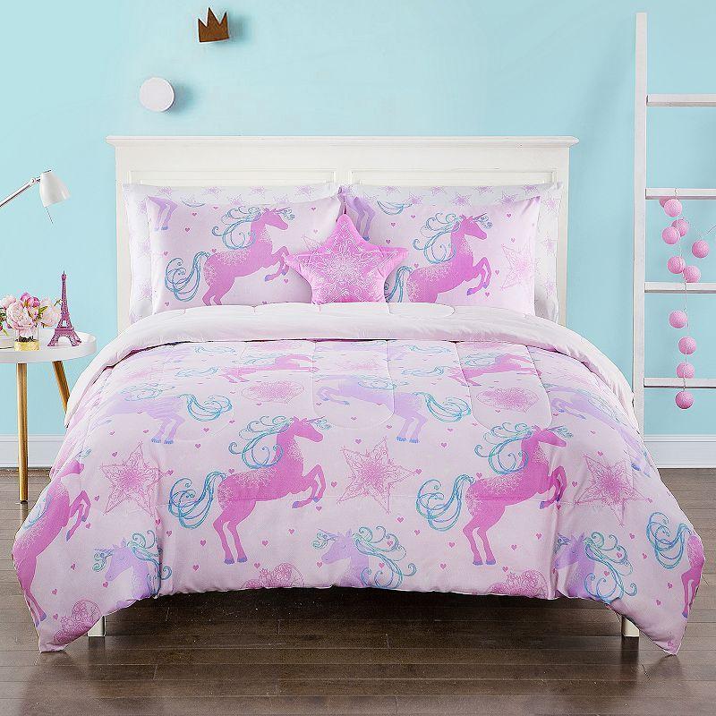 Unicorn Fame Kid S Comforter Set Kids, Pink Unicorn Bedding Twin