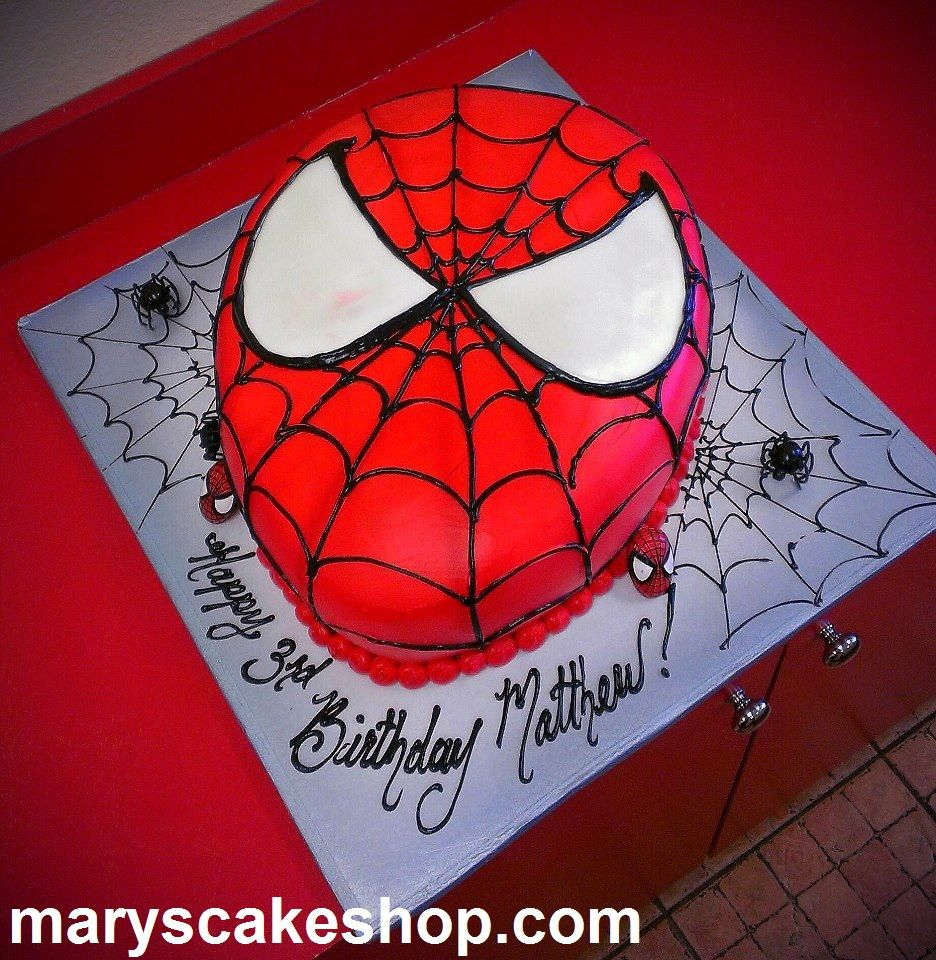 Spiderman cake spider man cakes birthday theme for Spiderman template for cake