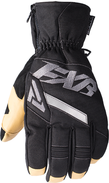 FXR Womens Black//Charcoal Fusion Snowmobile Gloves Snocross 2018