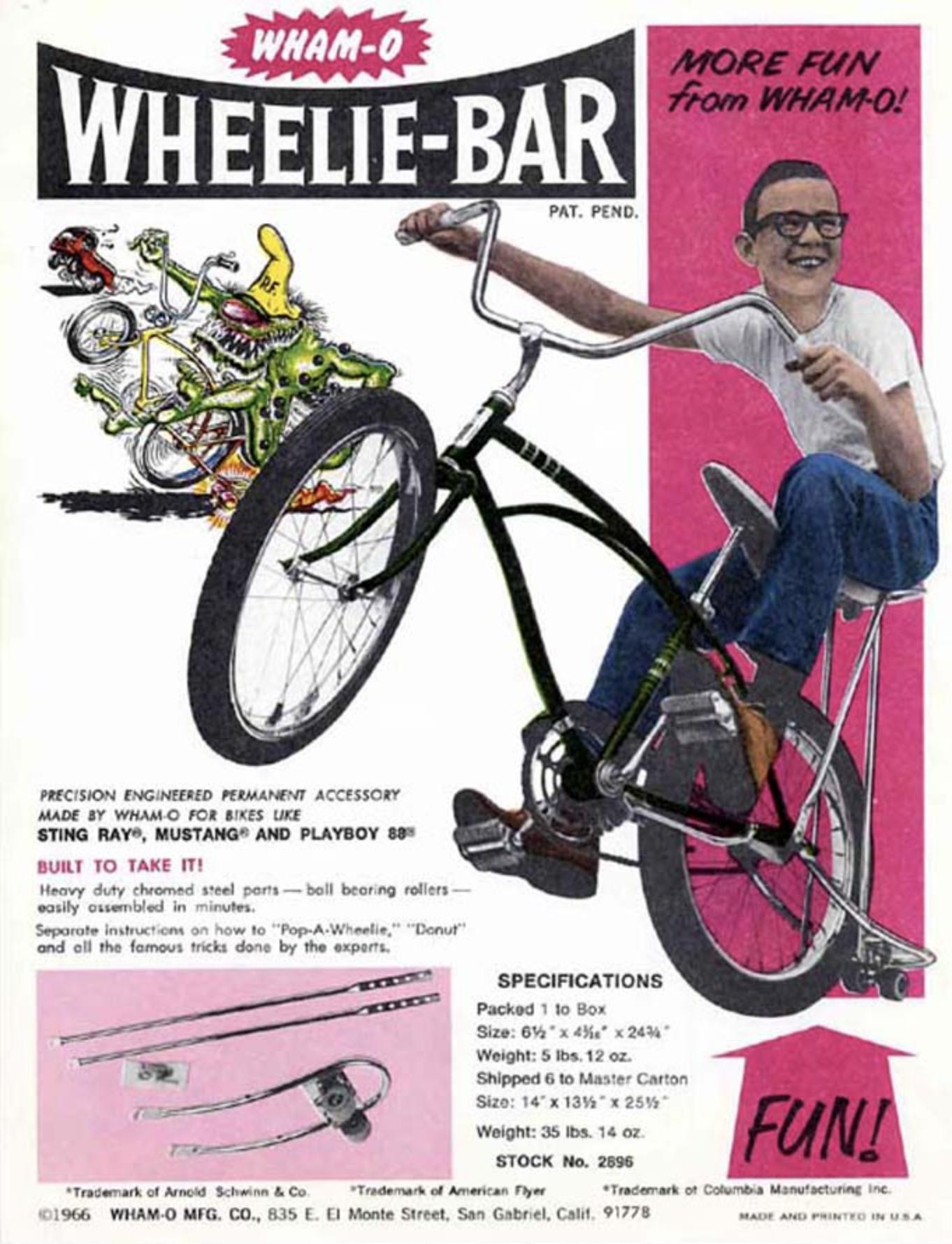 Wheelie Bar Set Bike Vintage Bikes Vintage Bicycles