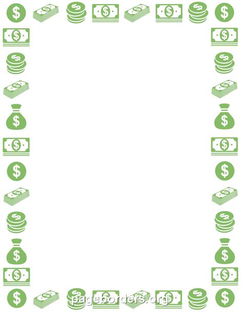Money Border Clip Art Page Border And Vector Graphics Bordas Molduras Frames Png