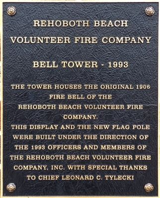 Rehoboth Beach Volunteer Fire Company Marker. Click for full size.