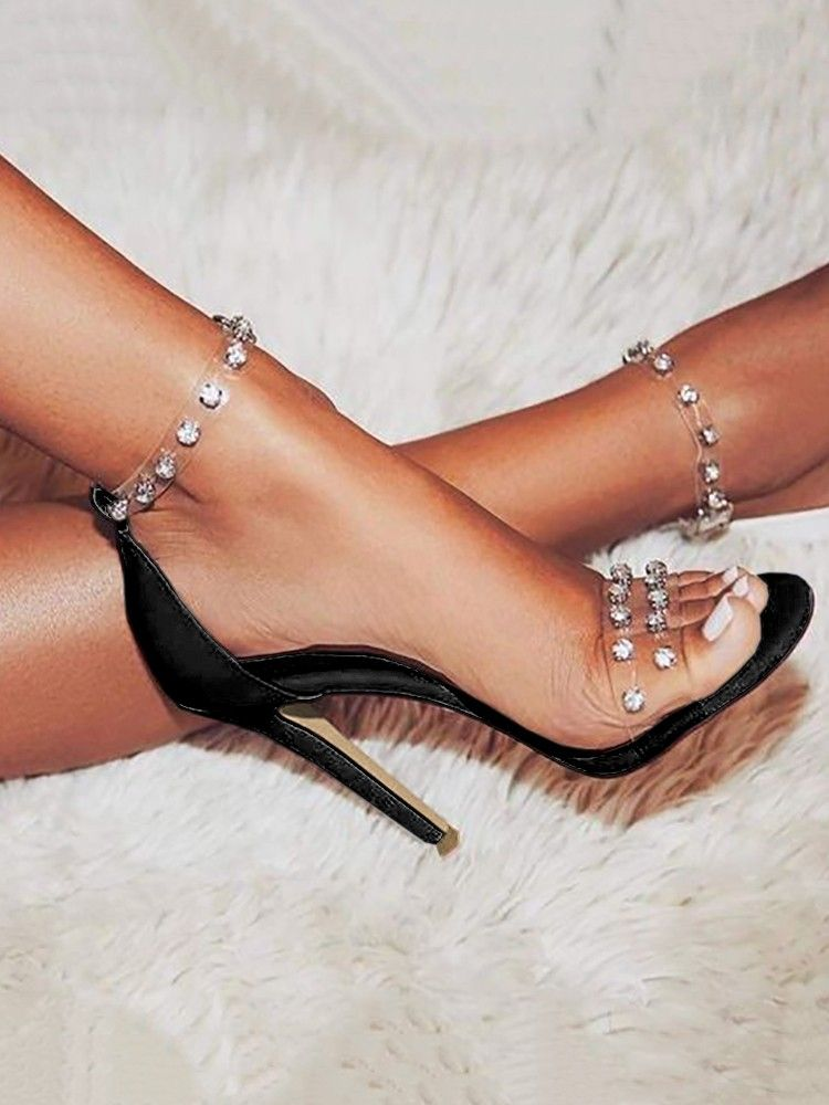 Diamond Splicing Open Toe Thin Sandals (US4.5/US5.5/US6/US7/US8/US8.5) $55.99