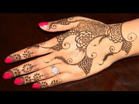 Mehndi Hands With Mobile : Learn indian pakistani simple & easy henna mehendi design ::