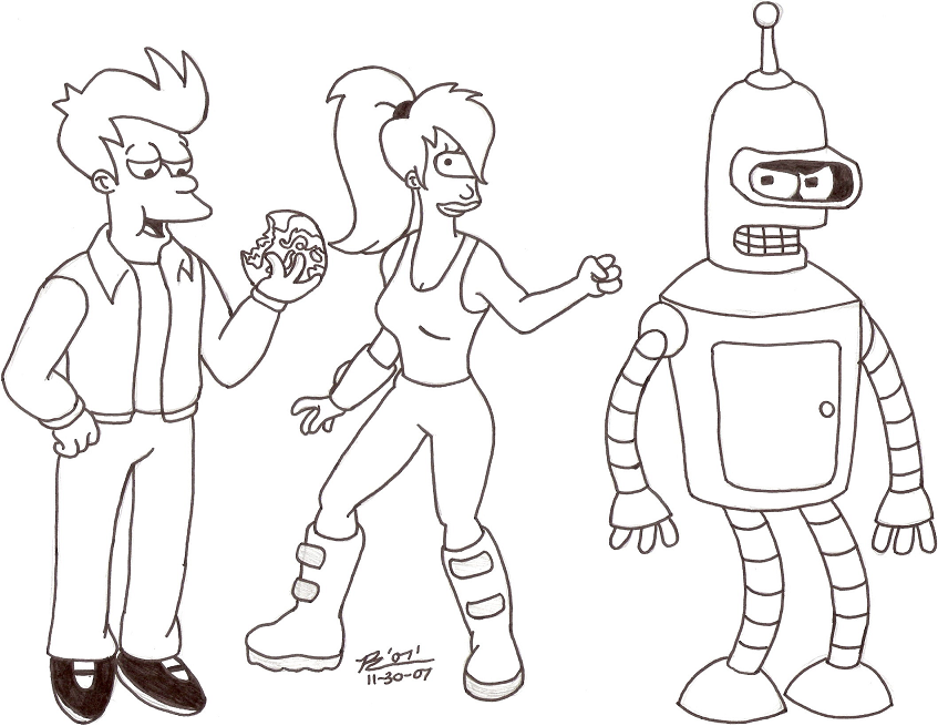 futurama coloring pages futurama coloring pages 131 | coloring :) | Coloring pages  futurama coloring pages