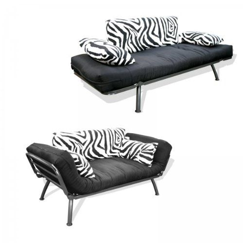 American Furniture Alliance Modern Loft Collection Futon Mali Flex Combo Zebra Print