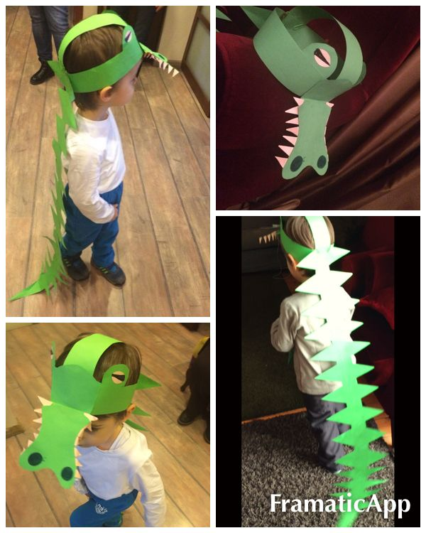 Crocodile Paper Hat