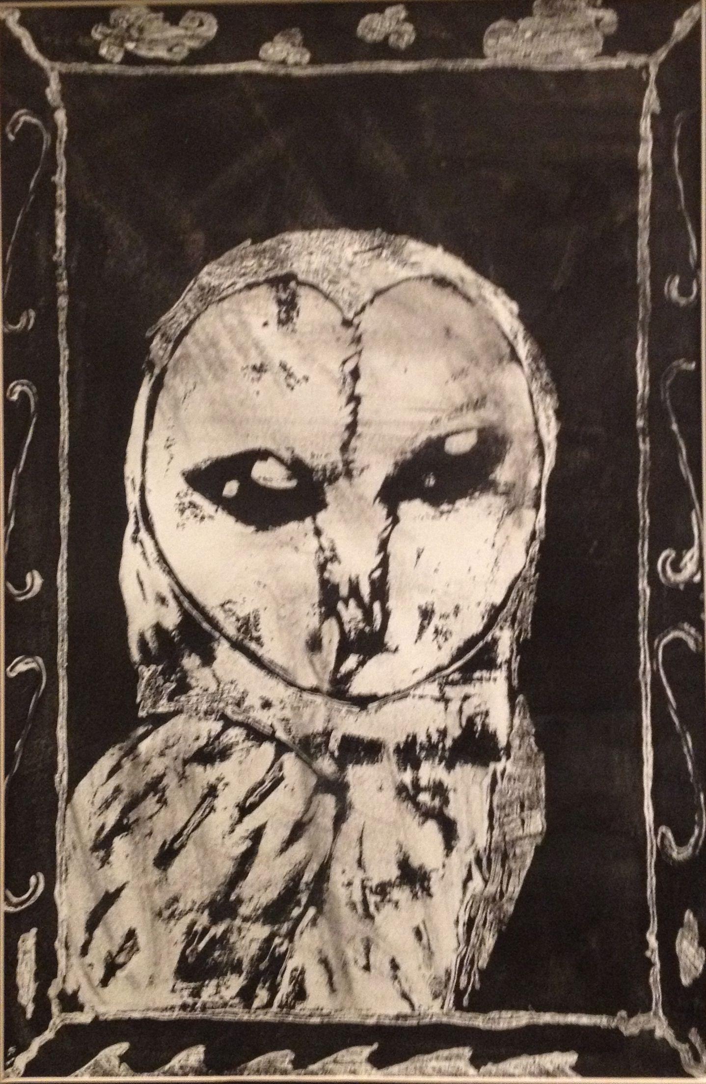 """Owl Of The Night"" by Cielo Serna from the Westbury Christian School art program. #ArtColony #HouArtFest"