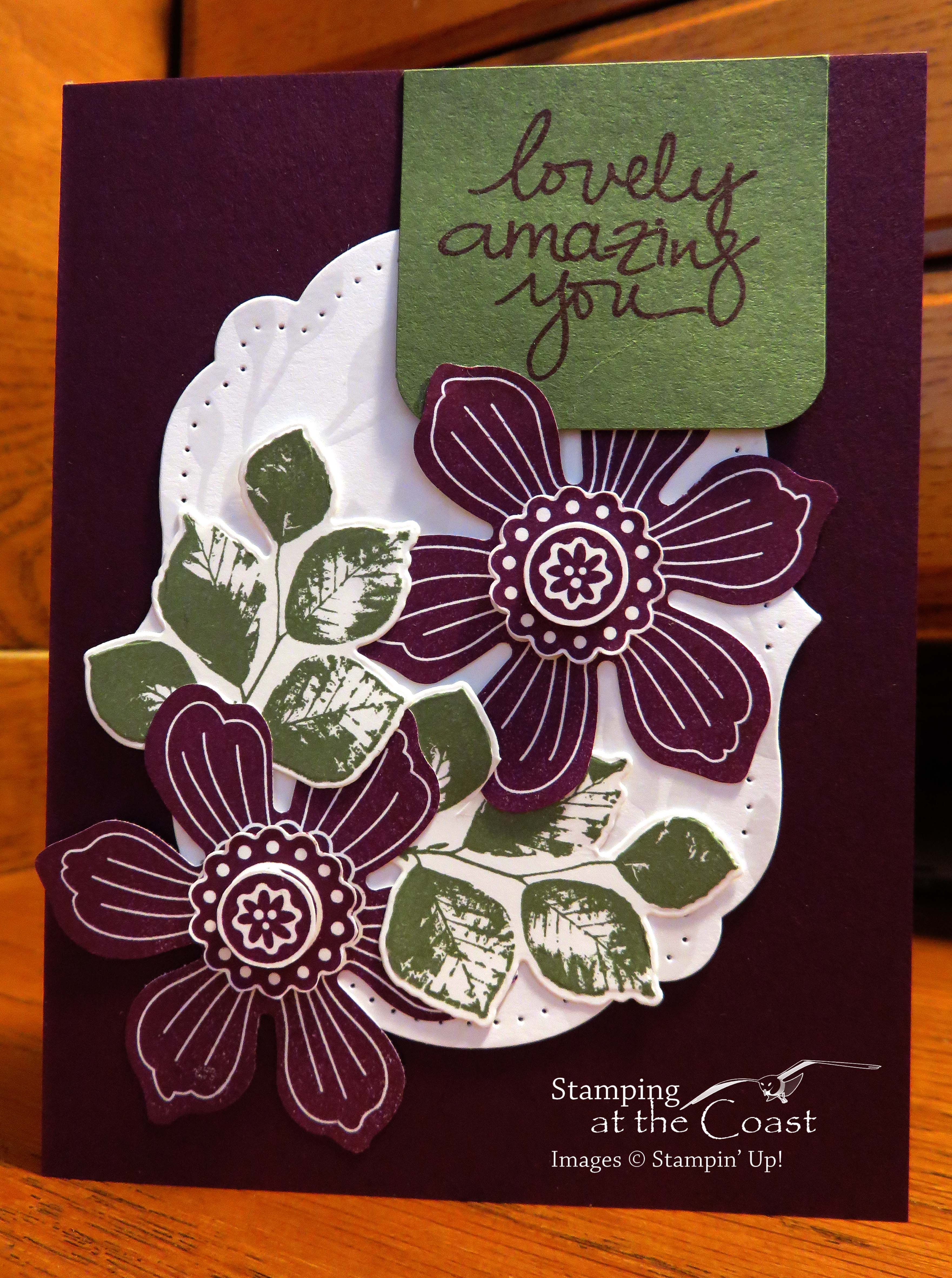 Stampin' Up! Lovely Amazing You, Bloom For You, Fun Flower Punch, Kinda Eclectic