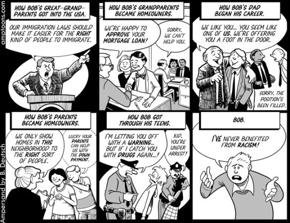 Image result for white privilege explained comic