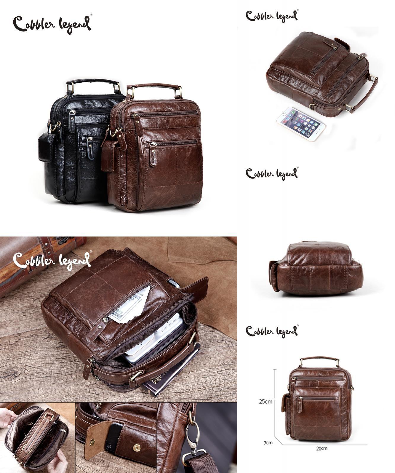 ea4402e81e  Visit to Buy  Cobbler Legend Brand Designer Men s Shoulder Bags Genuine  Leather Business Bag