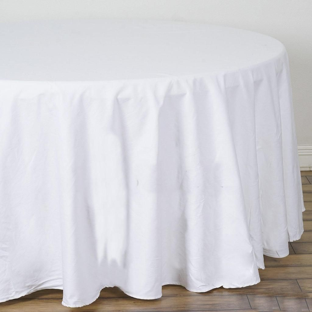 120 White Round Chambury Casa 100 Cotton Tablecloth With Images