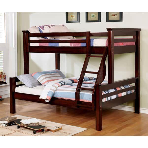 Best Furniture Of America Pen Rustic Walnut Solid Wood Bunk Bed 400 x 300