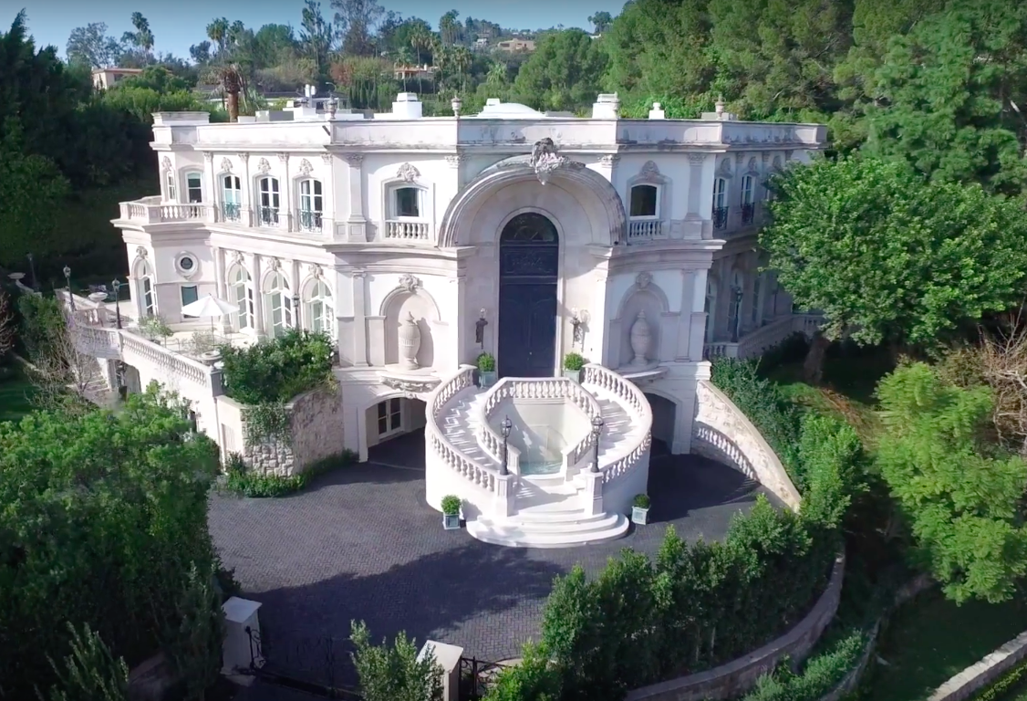 35 million baroque palazzo in beverly hills gets modern makeover
