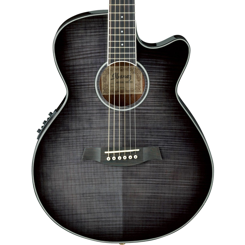 Ibanez Aeg24ii Thinline Electro Acoustic In Dark Grey Burst Guitar Obsession Guitar Ibanez Acoustic Guitar
