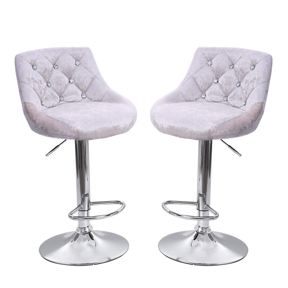 Amazon Com Clearance Sale 2pcs Home Bar Stools Velvet Snowflake Chair Seat Counter Height Adjustable Ba In 2020 Swivel Bar Stools Kitchen Swivel Bar Stools Bar Chairs