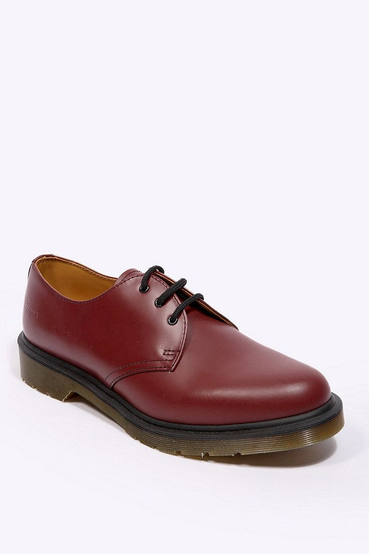 ff254854d57 Dr. Martens 1461 3 Eyelet Shoes in Cherry Red