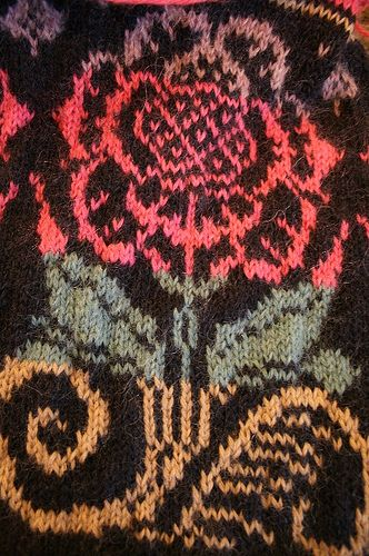 Fair isle flower by knitters-knitters, via Flickr