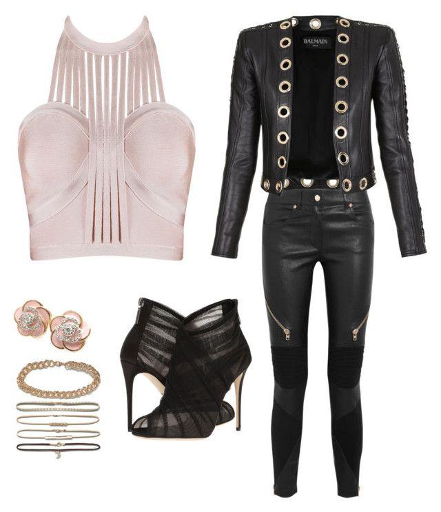 """sweet"" by vehabovicka ❤ liked on Polyvore featuring Givenchy, Balmain, Roberto Coin, DesignB London and Dolce&Gabbana"