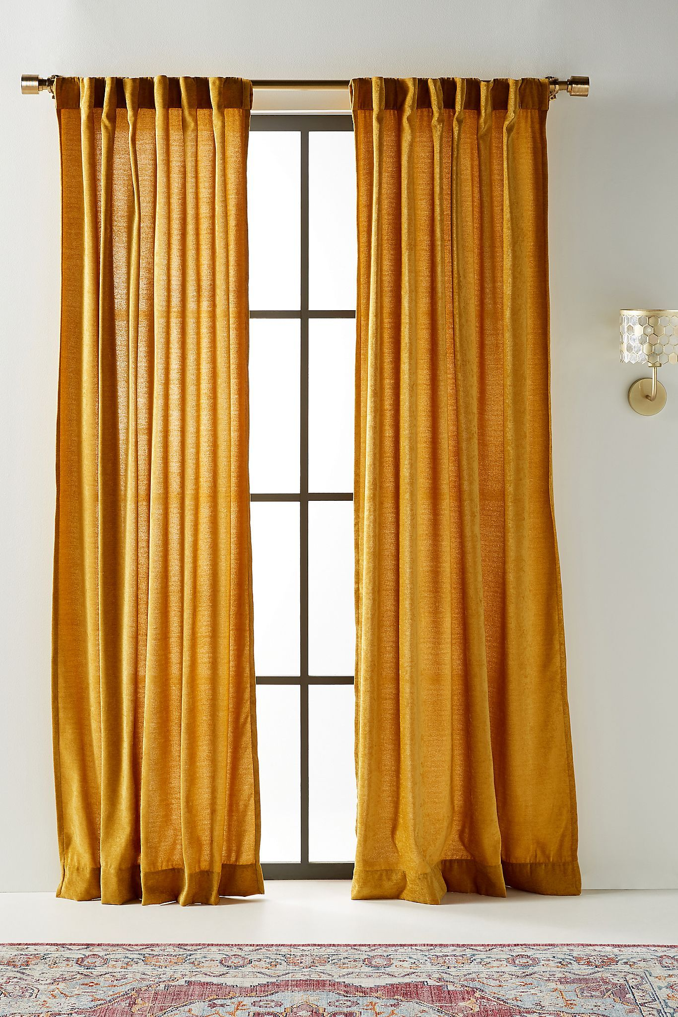 Chenille Curtains Set Of 2 Anthropologie In 2020 Yellow