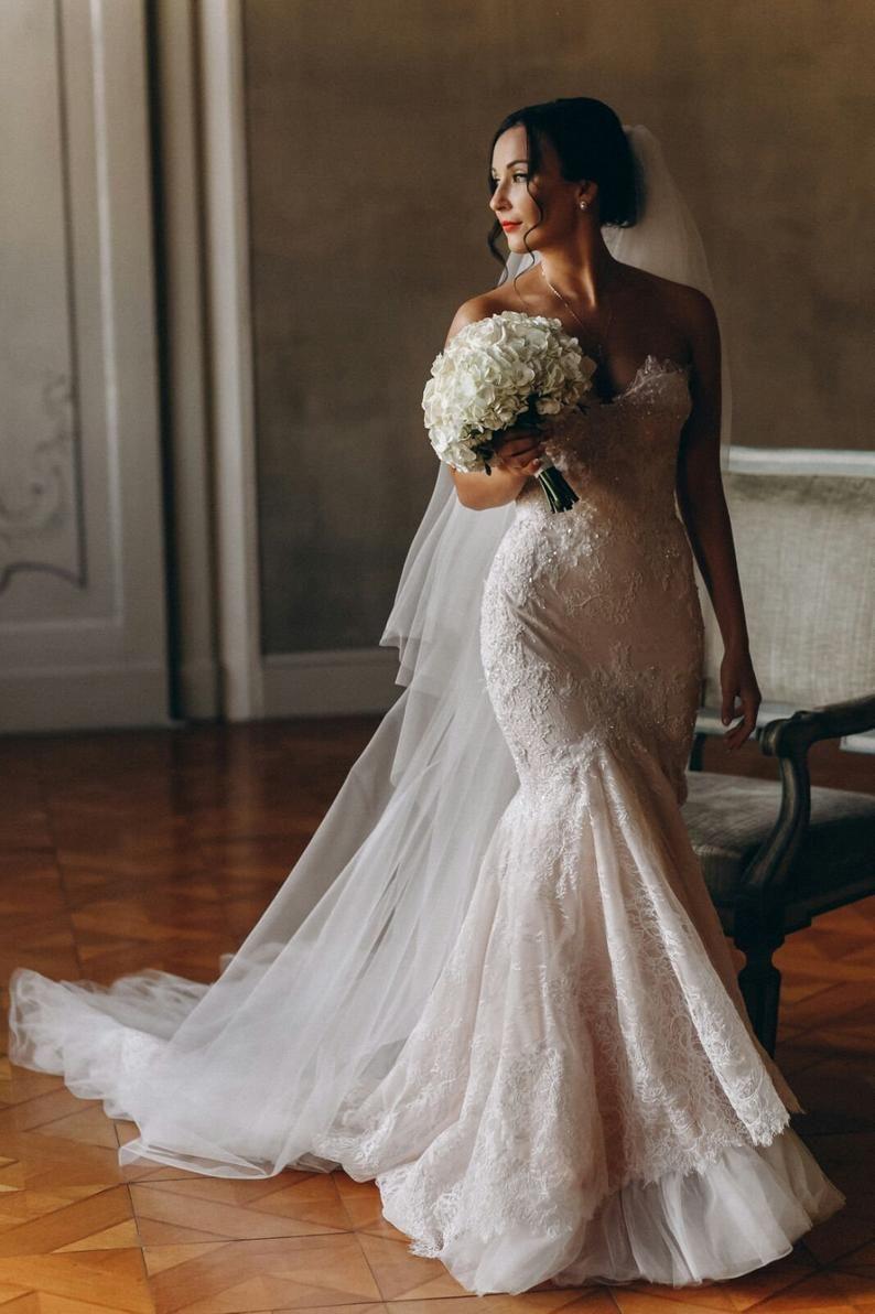 Lace Corset Wedding Dress Low Back Milana Gown Bohemian In 2021 Wedding Dress Low Back Bridal Dresses Mermaid Wedding Dresses [ 1192 x 794 Pixel ]