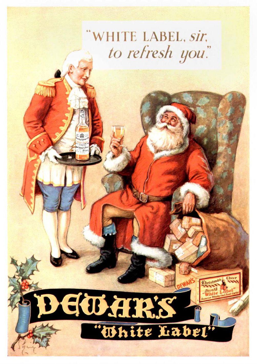 santa claus whisky christmas santa and the elfs beer