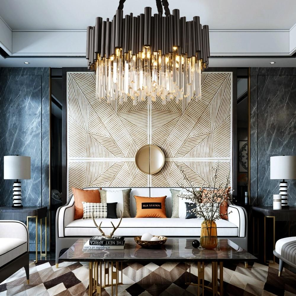 Stainless Steel Modern Crystal Chandelier By Morsa