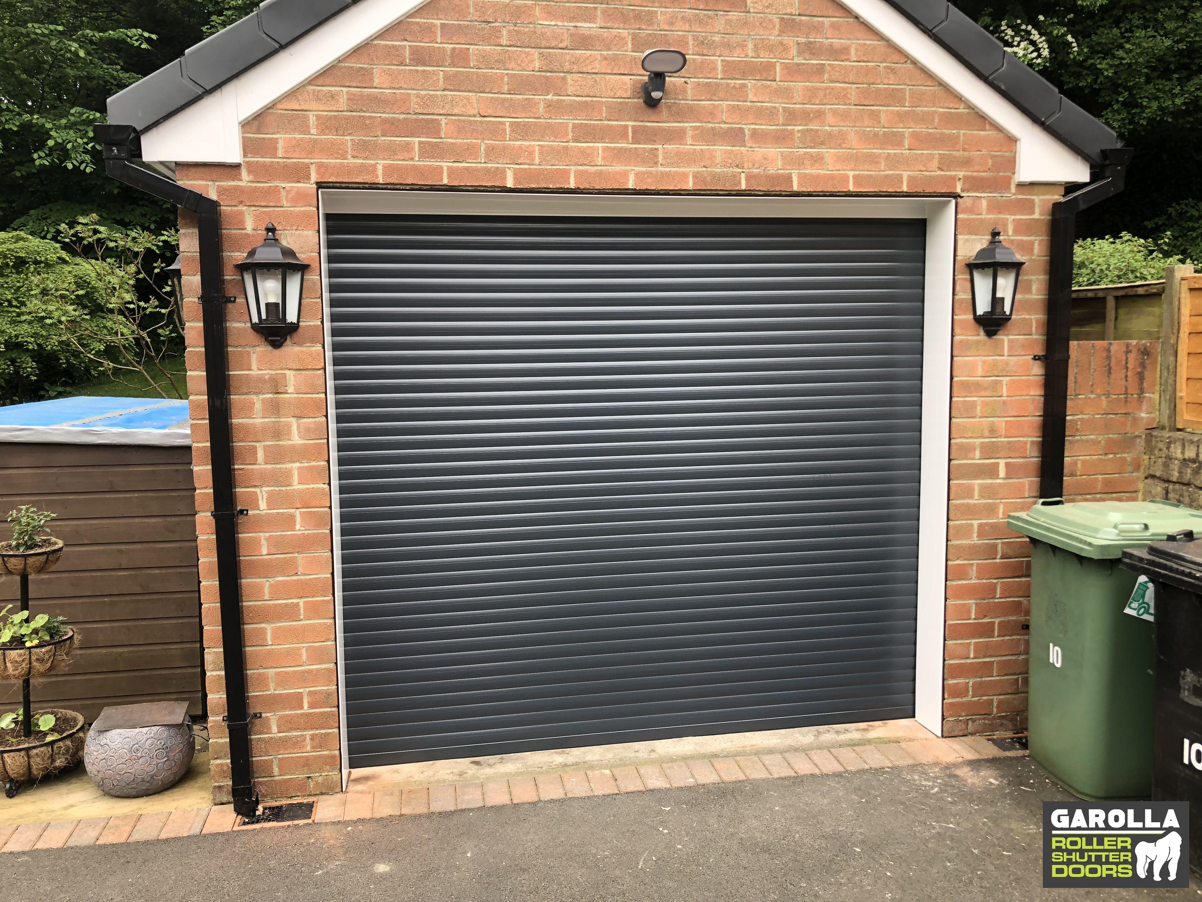 Grey Garage Door In 2020 Garage Doors Garage Door Design Grey Garage Doors