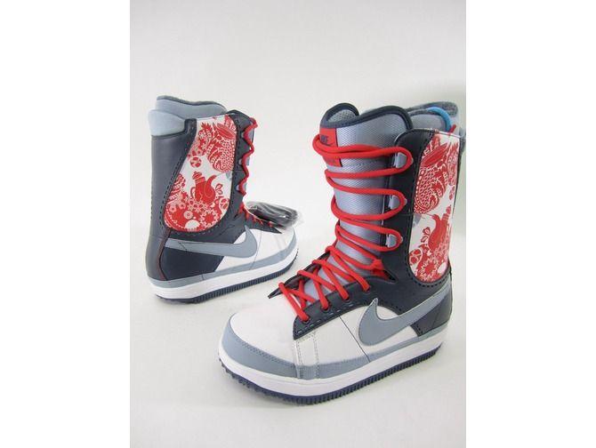NIB NIKE Zoom Baxa Blue Gray Red Winter Ski Snowboard Boots Shoes Size 9 $109