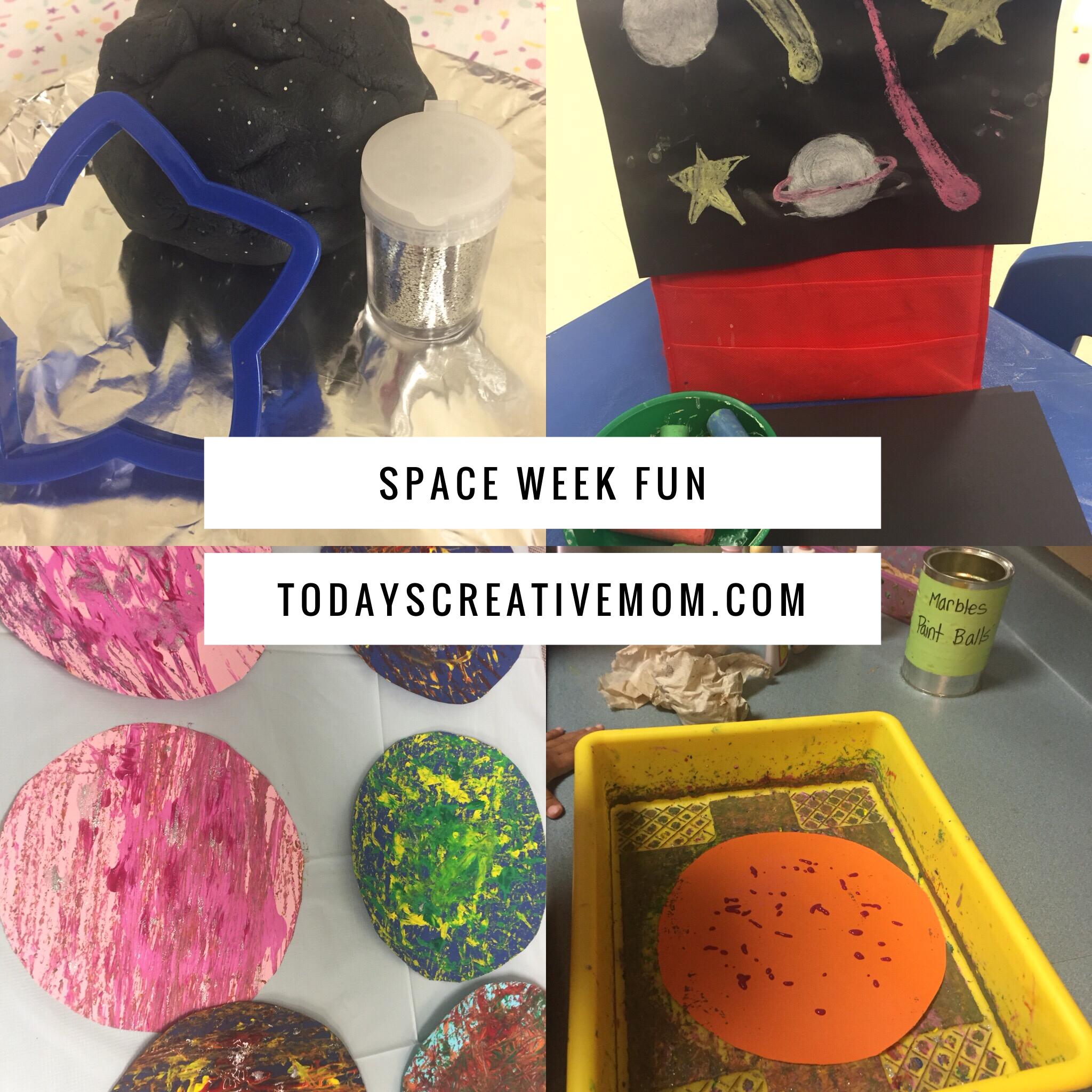 It S Outer Space Week At Preschool Moon Playdough Chalk