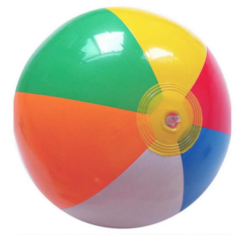 Ccinee 1pcs Beach Ball 35cm Colored Inflatable Beach Balls