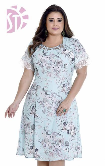 b0fbe0308a08 VESTIDO PLUS SIZE 10711 - Clássica Moda Evangélica | vestidos plus ...