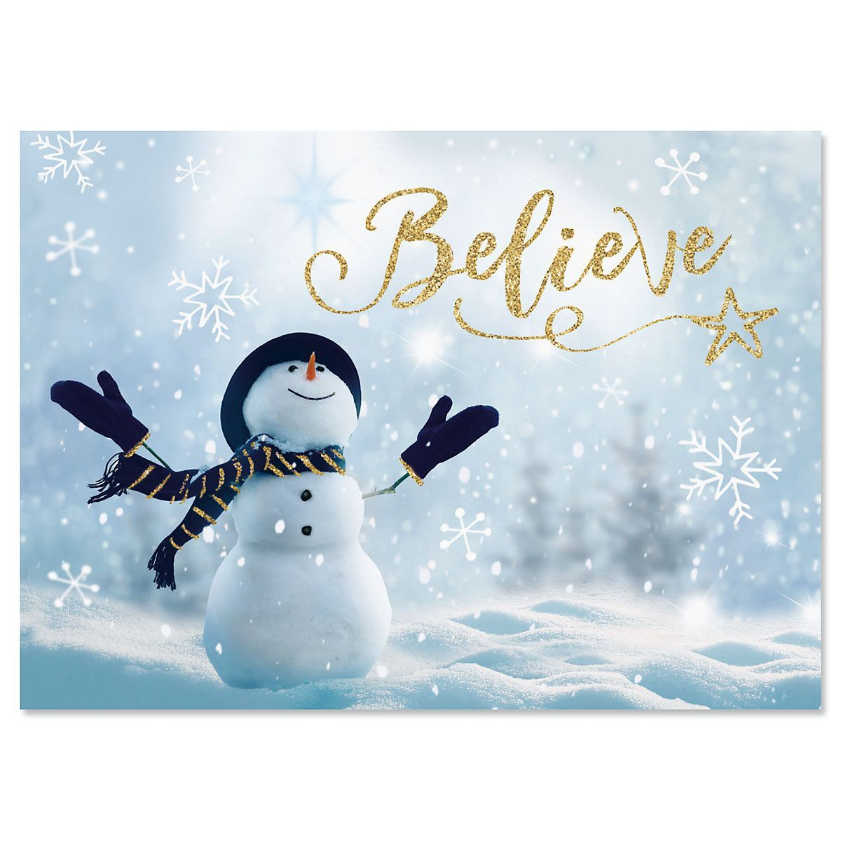 believe snowman christmas cards current catalog - Current Christmas Cards